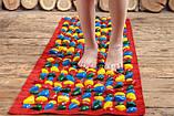 """Коврик-дорожка массажный с цветными камнями """"Ортопед"""" 200x40 см + запасные камушки (Massage Road), фото 3"""