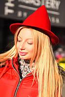 Женская фетровая шляпа конус , фото 1