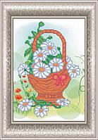 Схема для вышивки бисером Весняний кошик.