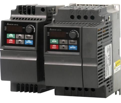Преобразователь частоты (0.4kW 220V) VFD004EL21A, фото 2