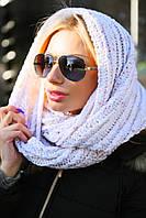 Женская шапка-шарф снуд