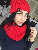 Набор шарф-хомут и шапка  тет01