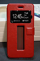 Чехол книжка Lenovo S90 Бесплатная доставка цвет красный