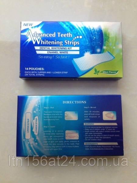 Уникальные отбеливающие полоски зубов Teeth Whitening мята это работает