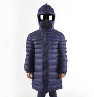 Эксклюзивное итальянское пальто-пуховик с очками на девочку.Защитит от холода и ветра!!!