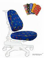 Чехол BB ( XL ) ткань синяя с жучками, для кресла Y-818 Mealux