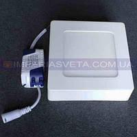 Светильник светодиодный дневного света IMPERIA панель 6W накладной квадрат LUX-530351