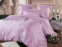 Постельное белье Люкс постель  ЖОЗЕФИНА сатин-жаккард премиум класса(100%хлопок) сиренево-лилового цвета