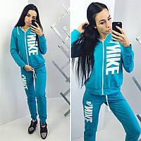 Женский Спортивный костюм Nike голубой норма и Батал