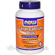 Коралловый кальций Плюс, Now Foods,100 капсул в растительной оболочке