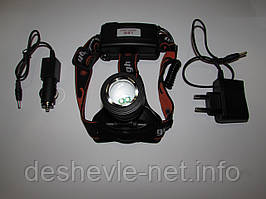 Налобный светодиодный фонарь  WD104 С аккумуляторами в комплекте тип 18650
