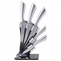 Набор ножей 6 предметов из нержавеющей стали с пустыми ручками и акриловой подставкой Kamille 5131