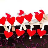 Набор сердечек-прищепок маленьких -10 шт., фото 2