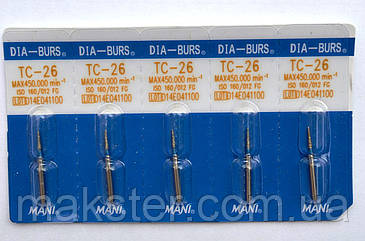 Алмазные боры MANI TC - 26, фото 2