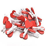 Набор сердечек-прищепок маленьких -10 шт., фото 8
