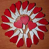 Набор сердечек-прищепок маленьких -10 шт., фото 5