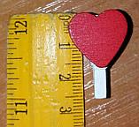 Набор сердечек-прищепок маленьких -10 шт., фото 3