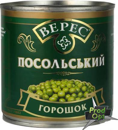 """Горошок зелений """"Посольський"""" Верес 420 г, фото 2"""