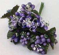 Веточка с фиолетовыми ягодками 6 шт., фото 1