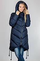 Женская теплая длинная куртка с капюшоном Snow Clasic на синтепоне