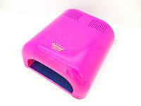 УФ лампа для сушки геля, гель-лака Master Professional MPL-230 на 36 Вт, розовая