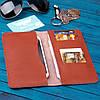 Коричневое портмоне из кожи