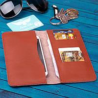 Коричневое портмоне из кожи, фото 1