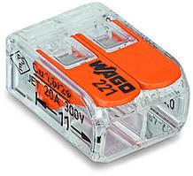 221-412 Клема 2-конт. д.распред. коробок,подкл. люстр ,св-ков