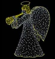 Светодиодная фигура Ангел LUMIERE 1,8м