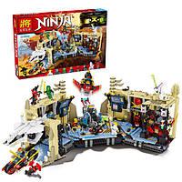 """Детский конструктор Lele 79348 Ninja (аналог Lego Ninjago 70596) """"Хаос в X-пещере Самураев"""" 1303 дет"""