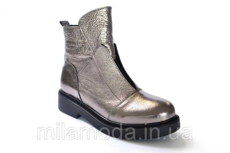 ebda83c7aaa9 Ботинки женские кожаные серебро НОВИНКА ! - Интернет-магазин