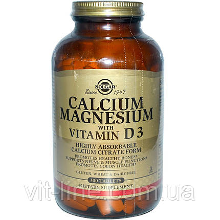Solgar, Кальций и магний с витамином D3, 300 таблеток, фото 2