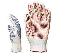 Перчатки трикотажные с двухсторон.ПВХ тчк