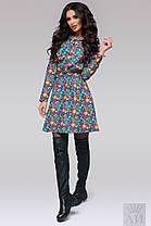 А140 Платье джинс с принтом , фото 3