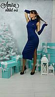 Длинное женское платье с воротником в расцветках i-54032171