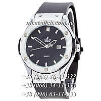 Кварцевые часы Hublot SSB-1012-0166 мужские синие каучуковые без стразов   классика