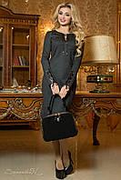 Женское модное трикотажное платье со шнуровкой, фото 1