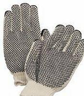 Перчатки вязаные двойные с ПВХ тчк арт.648