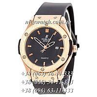 Кварцевые часы Hublot SSB-1012-0165 мужские синие каучуковые без стразов   классика