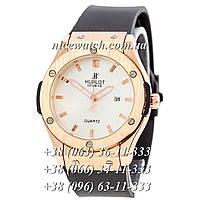 Кварцевые часы Hublot SSB-1012-0164 мужские синие каучуковые без стразов   классика
