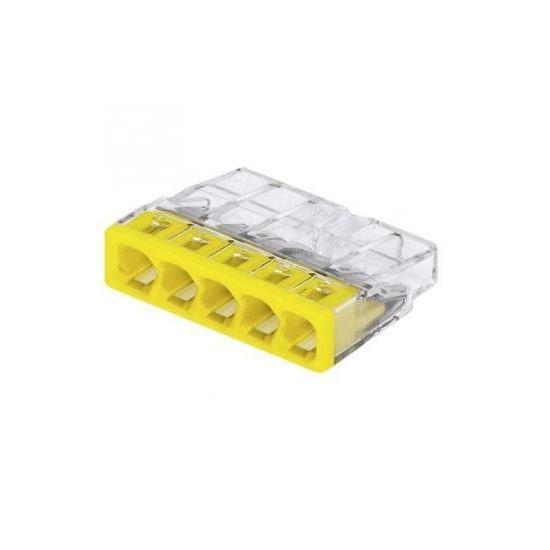 2273-245 Клема 5-конт COMPACT моножильн.2.5кв.. д.распред. коробок,прозр.-желт.+ПАСТА