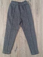 Леггинсы плотные серые для девочек со стрелкой р.104-116 Zeyrec