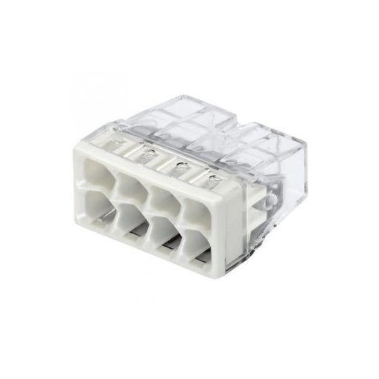 2273-248 Клема 8-конт COMPACT моножильн.2.5кв.. д.распред. коробок,прозр.-серая.+ПАСТА
