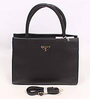 Стильная деловая сумка черного цвета, в10