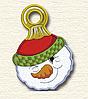 Полотенце с петелькой Снеговик (40*70 для рук)