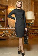 Женское стильное платье-футляр в мелкий горошек | Большие размеры, фото 1