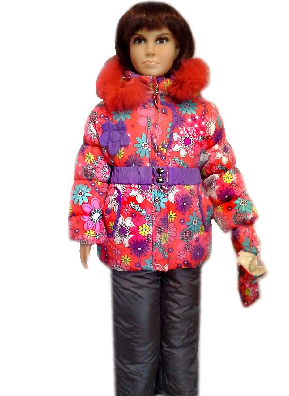 Комбинезон детский на зиму для девочки