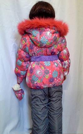 Комбинезон детский на зиму для девочки, фото 2