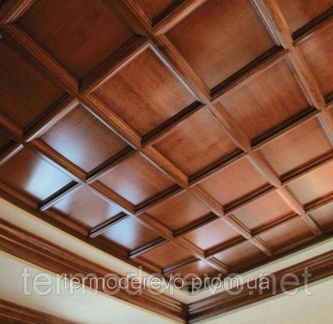 Монтаж потолков из дерева