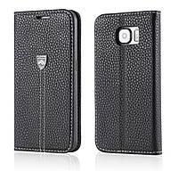 Оригинальная черная кожаная чехол-книжка Floveme  для Samsung Galaxy S6, фото 1